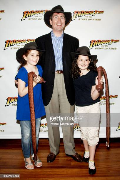 Lucy Horowitz Bill McCuddy and Lilly McCuddy attend PreRelease Party for LucasArts New Videogame INDIANA JONES and The STAFF OF KINGS at Nintendo...