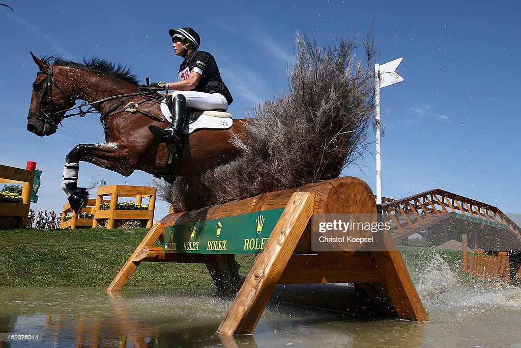 Lucy Jackson of New Zealand rides on Willy Do during the DHL Price Cross Country Test at Aachener Soers on July 19, 2014 in Aachen, Germany.