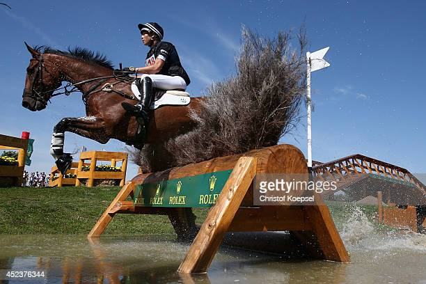 Lucy Jackson of New Zealand rides on Willy Do during the DHL Price Cross Country Test at Aachener Soers on July 19 2014 in Aachen Germany