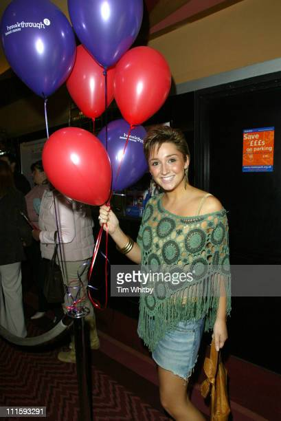 Lucy Jo Hudson during Charity Performance of 'Chicago' in Aid of Breakthrough Breast Cancer Arrivals at Adelphi Theatre in London Great Britain