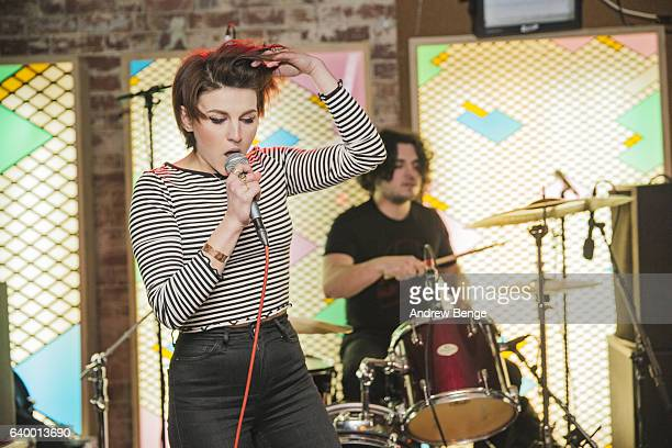 Lucy Jowett of Dead Naked Hippies perform at Headrow House on January 21 2017 in Leeds United Kingdom