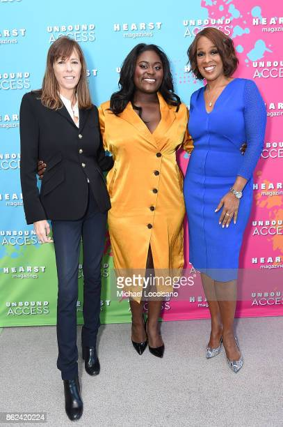 Lucy Kaylin Danielle Brooks and Gayle King attend Hearst Magazines' Unbound Access MagFront at Hearst Tower on October 17 2017 in New York City