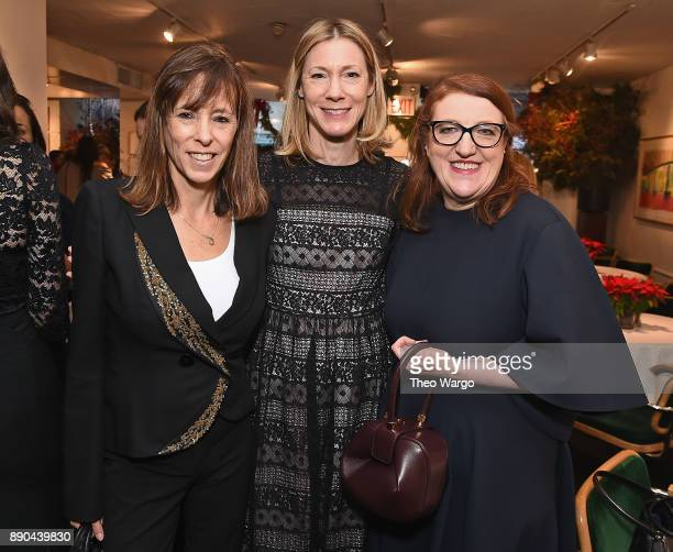 Lucy Kaylin Susan Spencer and Glenda Baily attend the Hearst 100 at Michael's Restaurant on December 11 2017 in New York City