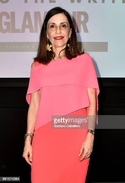 Lucy Lara Editorial Director of Glamour MŽxico and Latin America CondŽ Nast attends Miami Fashion Week Master Classes at Miami Dade College on June 2...