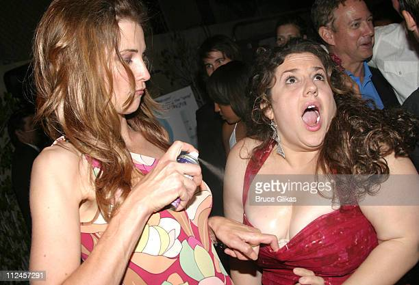 Lucy Lawless and Marissa Jaret Winokur during 'Hairspray' Opening Night Los Angeles After Party at Henry Fonda Theatre in Hollywood California United...