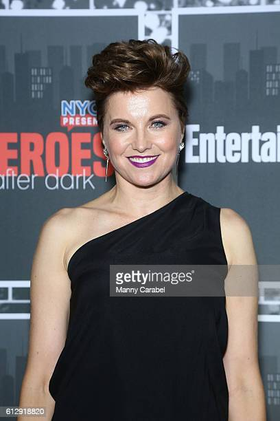 Lucy Lawless attends the Heroes After Dark New York Comic Con KickOff Red Carpet Celebration at Highline Ballroom on October 5 2016 in New York City