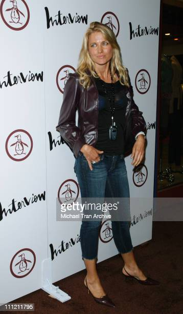 Lucy Lawless during Grand Opening of An Original Penguin Arrivals at An Original Penguin in Los Angeles California United States