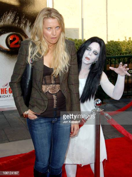 Lucy Lawless during 'The Grudge 2' Los Angeles Premiere Arrivals at Knott's Berry Farm in Buena Park California United States