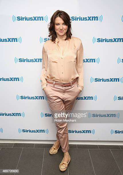 Lucy Lawless visits at SiriusXM Studios on April 14 2015 in New York City