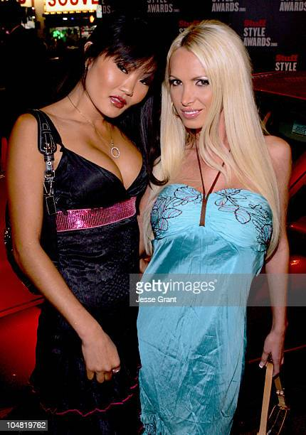Lucy Lee and Nikki Benz during 2005 Stuff Style Awards Mercury on the Red Carpet at Hollywood Roosevelt Hotel in Los Angeles California United States