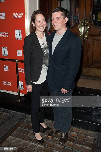 Lucy Liemann and Nigel Harman attends the press night for the new cast of 'One Man Two Guvnors' at Theatre Royal on October 17 2013 in London England