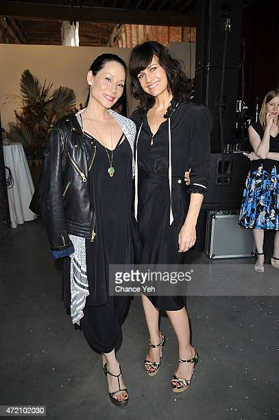 Lucy Liu and Carla Gugino attend 2nd Annual Village Fete Benefiting Pioneer Works Center For Art Innovation at Pioneer Works Center for Arts...