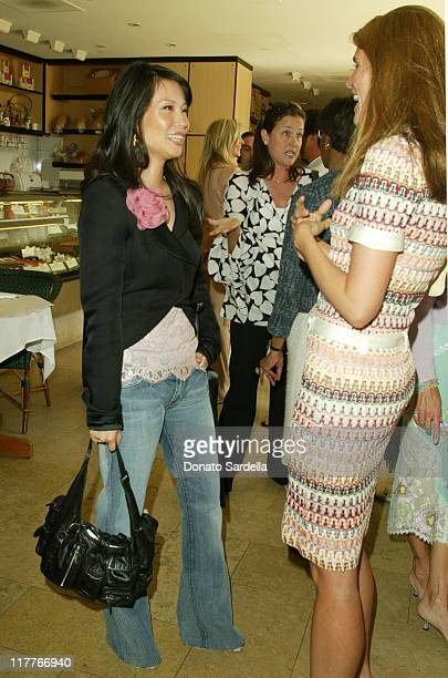 Lucy Liu and Colleen Bell during Ungaro Breakfast Honoring Giambattista Valli at Barneys New York Store in Beverly Hills California United States