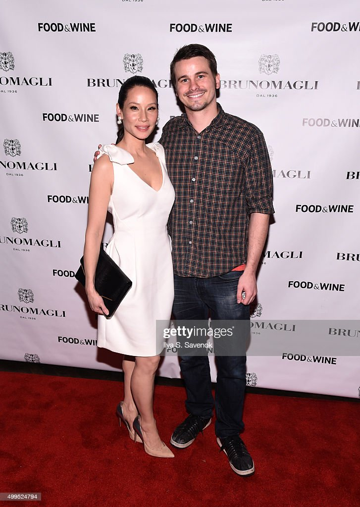 Lucy Liu and Jason Ritter attend Bruno Magli Presents A Taste Of Italy CoHosted By Food Wine Scott Conant on December 1 2015 in New York City
