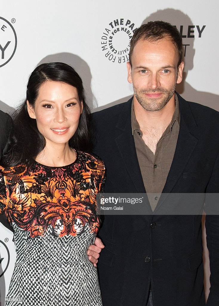 <a gi-track='captionPersonalityLinkClicked' href=/galleries/search?phrase=Lucy+Liu&family=editorial&specificpeople=201874 ng-click='$event.stopPropagation()'>Lucy Liu</a> and <a gi-track='captionPersonalityLinkClicked' href=/galleries/search?phrase=Jonny+Lee+Miller&family=editorial&specificpeople=633082 ng-click='$event.stopPropagation()'>Jonny Lee Miller</a> attend the 'Elementary' panel during 2013 PaleyFest: Made In New York at The Paley Center for Media on October 5, 2013 in New York City.