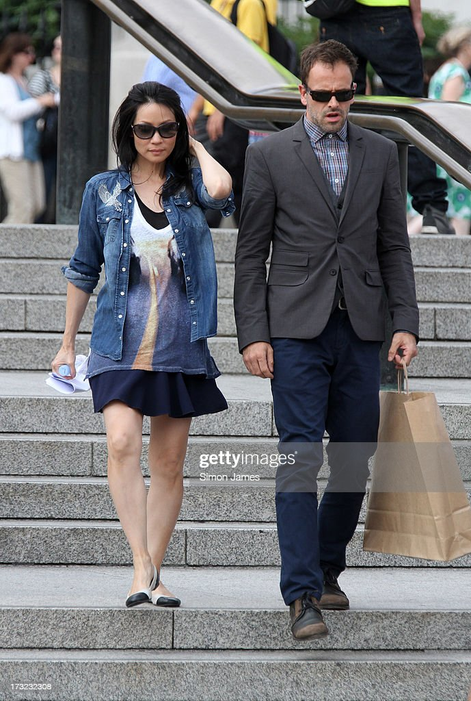 <a gi-track='captionPersonalityLinkClicked' href=/galleries/search?phrase=Lucy+Liu&family=editorial&specificpeople=201874 ng-click='$event.stopPropagation()'>Lucy Liu</a> and <a gi-track='captionPersonalityLinkClicked' href=/galleries/search?phrase=Jonny+Lee+Miller&family=editorial&specificpeople=633082 ng-click='$event.stopPropagation()'>Jonny Lee Miller</a> sighting on set filming Elementary on July 10, 2013 in London, England.