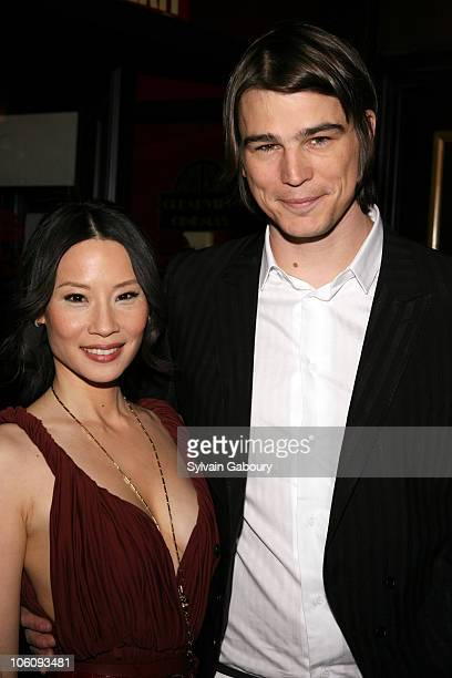 Lucy Liu and Josh Hartnett during The Weinstein Company's Premiere of 'Lucky Number Slevin' red carpet arrivals at Clearview Ziegfeld Theater in New...