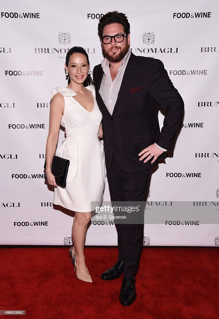 Lucy Liu and Scott Conant attend Bruno Magli Presents A Taste Of Italy CoHosted By Food Wine Scott Conant on December 1 2015 in New York City