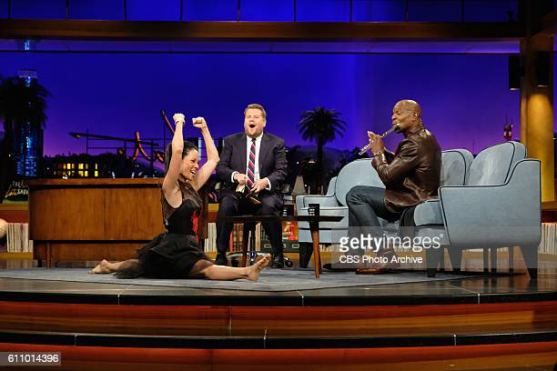 Lucy Liu and Terry Crews chat with James Corden during 'The Late Late Show with James Corden' Thursday Sept 22nd On The CBS Television Network