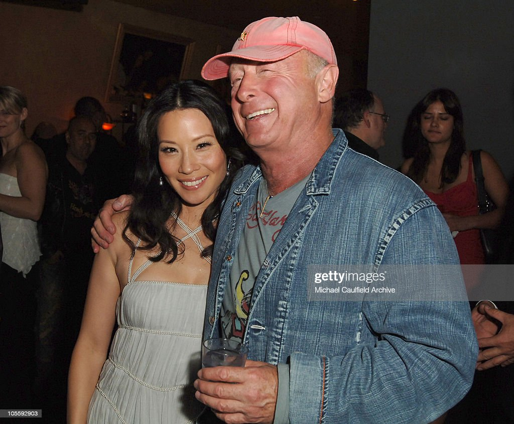 Lucy Liu and Tony Scott director during New Line Cinema's 'Domino' Los Angeles Premiere After Party at The Highlands in Los Angeles California United...
