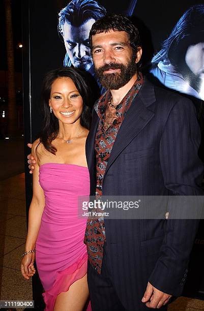 Lucy Liu Antonio Banderas during 'Ballistic Ecks vs Sever' Premiere at Cinerama Dome in Hollywood California United States