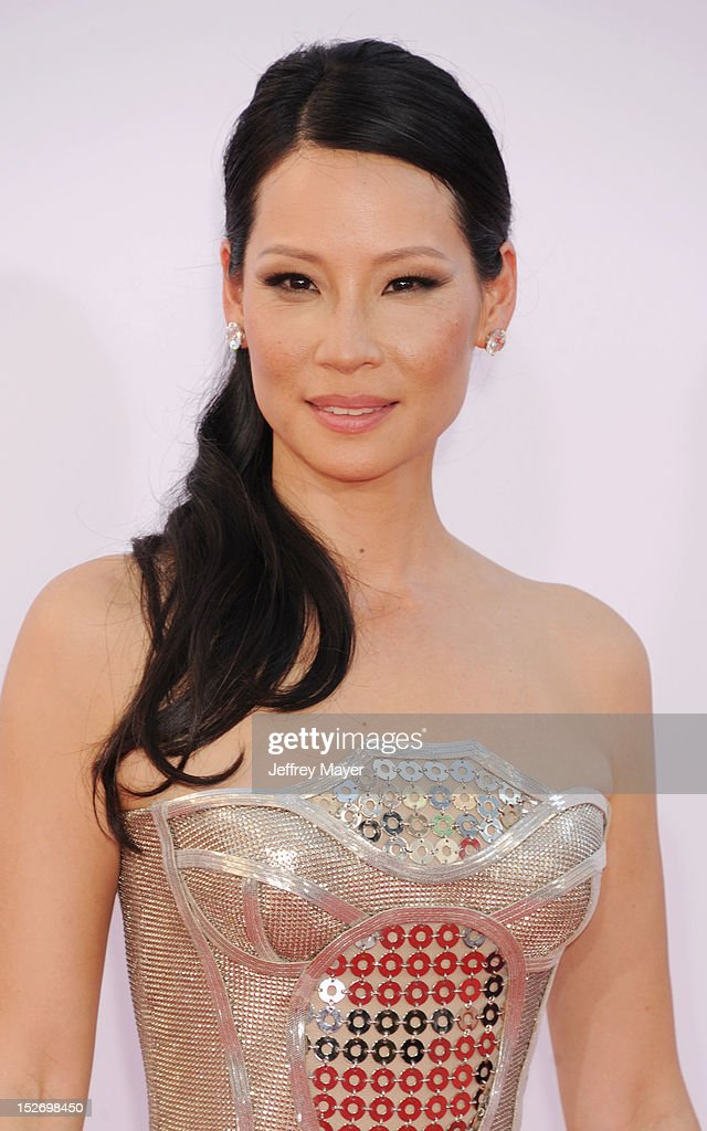 Lucy Liu arrives at the 64th Primetime Emmy Awards at Nokia Theatre L.A. Live on September 23, 2012 in Los Angeles, California.