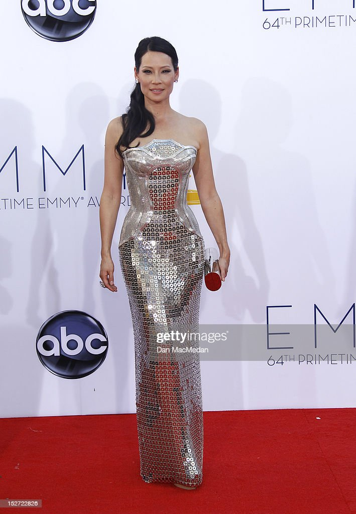 Lucy Liu arrives at the 64th Primetime Emmy Awards held at Nokia Theatre L.A. Live on September 23, 2012 in Los Angeles, California.