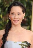 Lucy Liu arrives at the 70th Annual Golden Globe Awards at The Beverly Hilton Hotel on January 13 2013 in Beverly Hills California