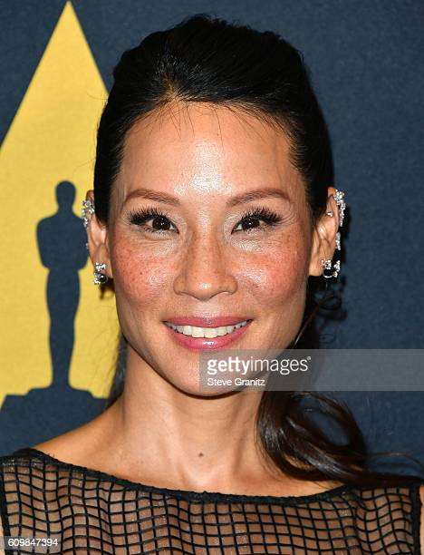 Lucy Liu arrives at the Academy Of Motion Picture Arts And Sciences 43rd Student Academy Awards at Samuel Goldwyn Theater on September 22 2016 in...