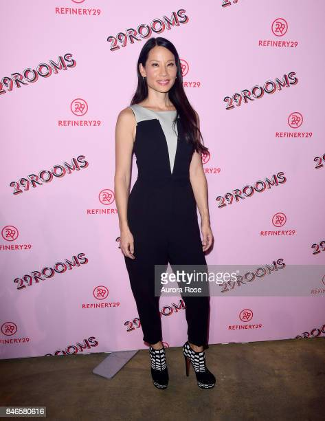 Lucy Liu attends Refinery29's '29Rooms Turn It Into Art' at 106 Wythe Ave on September 7 2017 in New York City
