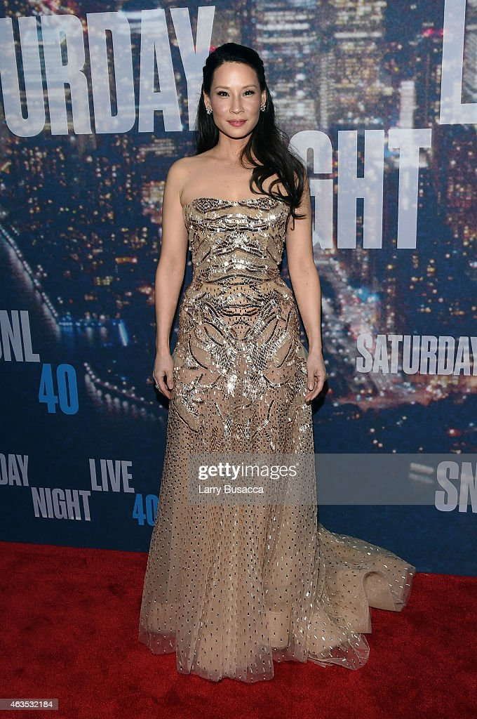 <a gi-track='captionPersonalityLinkClicked' href=/galleries/search?phrase=Lucy+Liu&family=editorial&specificpeople=201874 ng-click='$event.stopPropagation()'>Lucy Liu</a> attends SNL 40th Anniversary Celebration at Rockefeller Plaza on February 15, 2015 in New York City.