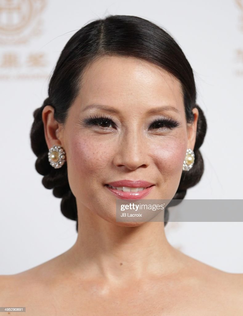 Lucy Liu attends the 2014 Huading Film Awards Press Room on June 1 2014 at Ricardo Montalban Theatre in Los Angeles California