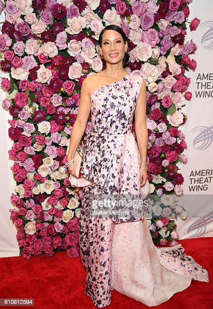 Lucy Liu attends the 2016 American Theatre Wing Gala honoring Cicely Tyson at the Plaza Hotel on September 22 2016 in New York City