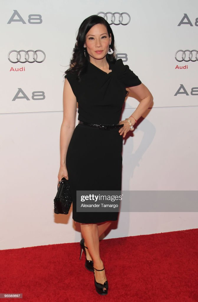 Lucy Liu attends 'The Art of Progress' World-premiere of the new Audi A8 at the Audi Pavilion on November 30, 2009 in Miami, Florida.