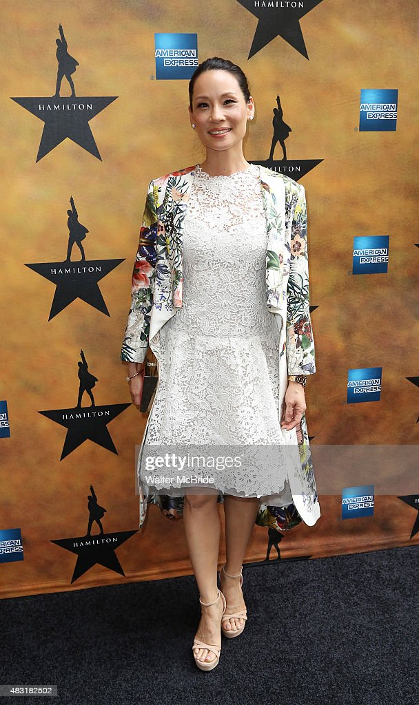 <a gi-track='captionPersonalityLinkClicked' href=/galleries/search?phrase=Lucy+Liu&family=editorial&specificpeople=201874 ng-click='$event.stopPropagation()'>Lucy Liu</a> attends the Broadway opening night performance of'Hamilton' at the Richard Rodgers Theatre on August 6, 2015 in New York City.