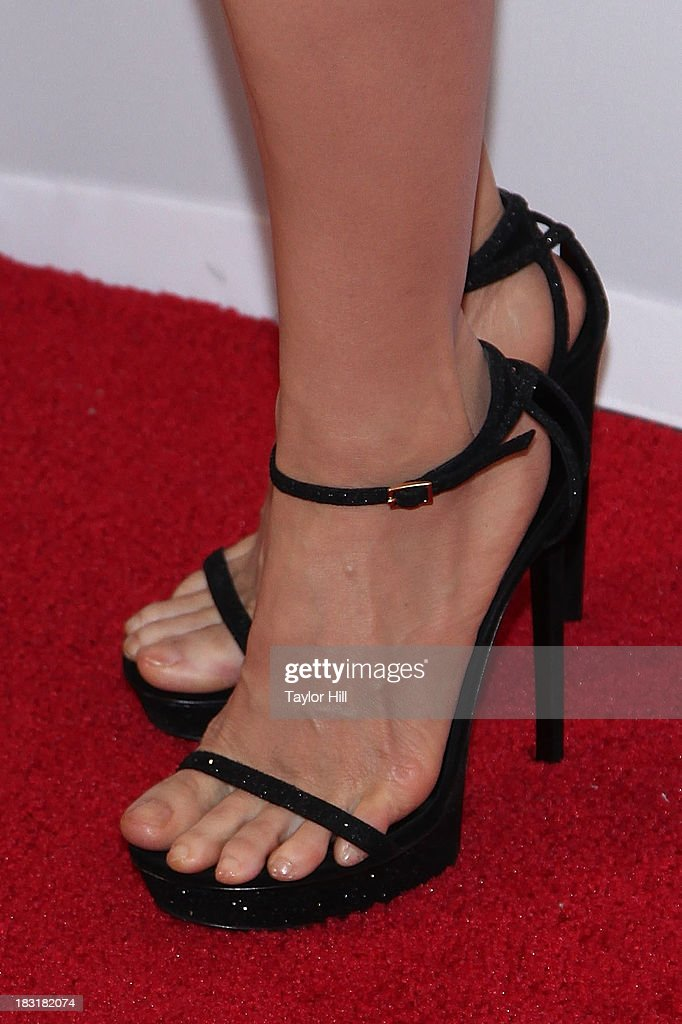 <a gi-track='captionPersonalityLinkClicked' href=/galleries/search?phrase=Lucy+Liu&family=editorial&specificpeople=201874 ng-click='$event.stopPropagation()'>Lucy Liu</a> (shoe detail) attends the 'Elementary' panel during 2013 PaleyFest: Made In New York at The Paley Center for Media on October 5, 2013 in New York City.