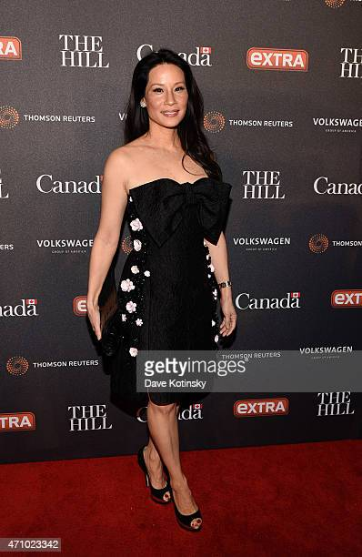 Lucy Liu attends the The Hill Extra And The Embassy Of Canada Celebrate The White House Correspondents' Dinner Weekend at Embassy of Canada on April...