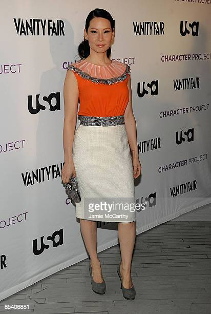 Lucy Liu attends USA Network's 'American Character A Photographic Journey' launch event at the Stephan Weiss Studio on March 12 2009 in New York City
