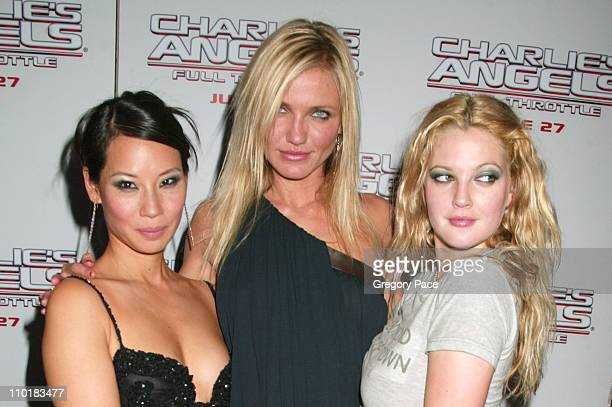 Lucy Liu Cameron Diaz and Drew Barrymore during 'Charlie's Angels Full Throttle' New York City Premiere at Loews Lincoln Square in New York City New...