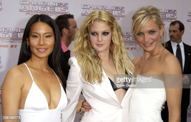 Lucy Liu Drew Barrymore and Cameron Diaz during 'Charlie's Angels 2 Full Throttle' Premiere at Mann's Chinese Theater in Hollywood California United...