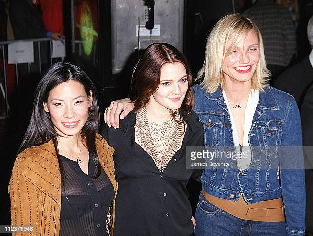 Lucy Liu Drew Barrymore and Cameron Diaz during New York Screening of 'Charlie's Angeles' at Ziegfeld Theatre in New York City New York United States