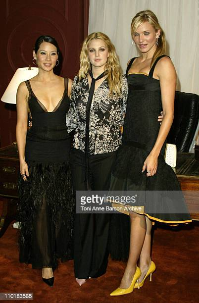 Lucy Liu Drew Barrymore Cameron Diaz during 'Charlie's Angels Full Throttle' Premiere Paris at UGC Normandy Champs Elysees in Paris France