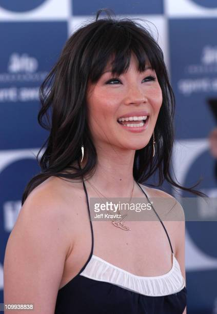 Lucy Liu during 2004 Independent Spirit Awards Arrivals at Santa Monica Pier in Santa Monica California United States