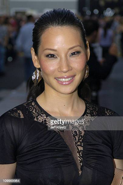 Lucy Liu during 2004 MTV Movie Awards Backstage and Audience at Sony Pictures Studios in Culver City California United States