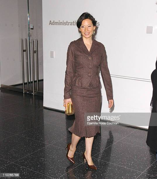 Lucy Liu during '3 Needles' New York City Premiere Arrivals at Museum of Modern Art in New York City New York