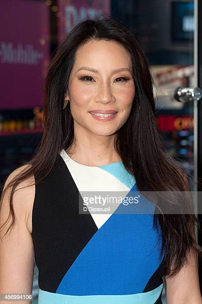 Lucy Liu visits 'Extra' at their New York studios at HM in Times Square on October 10 2014 in New York City