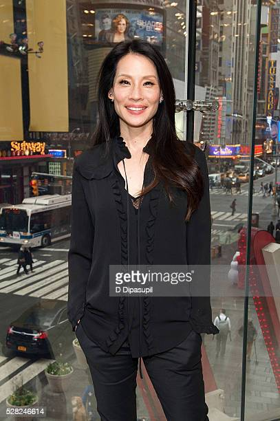 Lucy Liu visits 'Extra' at their New York studios at HM in Times Square on May 4 2016 in New York City