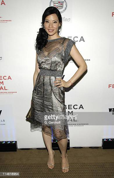Lucy Liu wearing Dolce Gabbana during 6th Annual Tribeca Film Festival 'Watching the Detectives' After Party at The Cadillac Lounge at the W Hotel in...