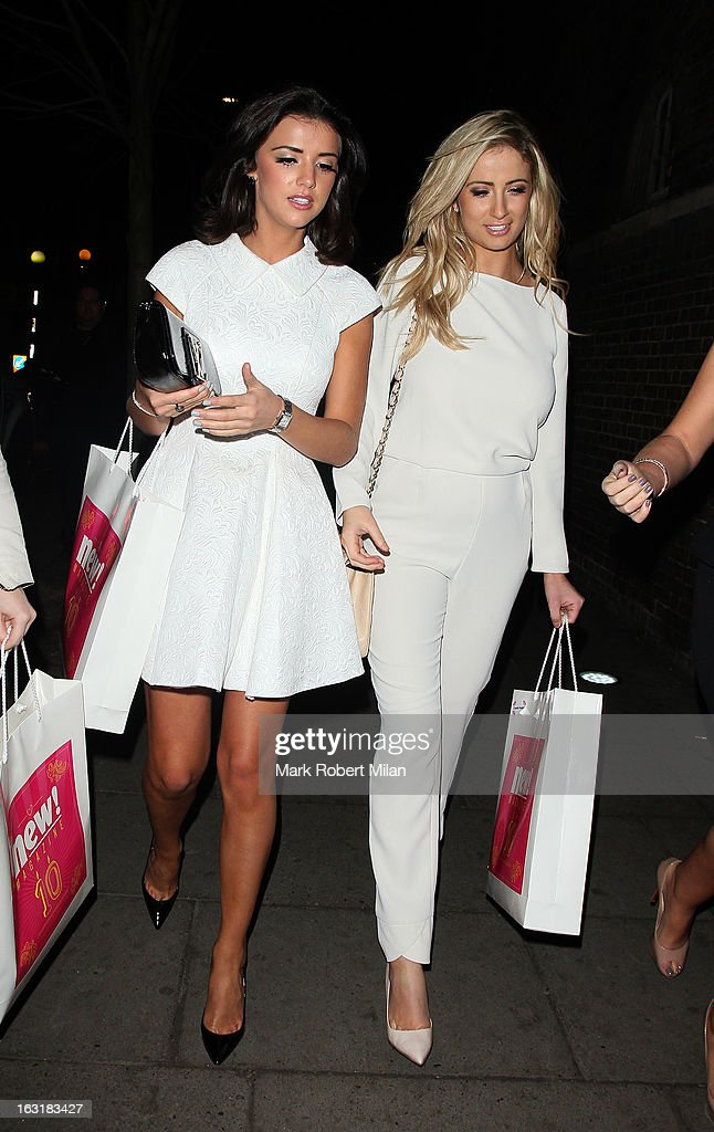 Lucy Mecklenburgh and Chantelle Houghton attending the new! magazine 10th birthday party at Gilgamesh restaurant on March 5, 2013 in London, England.