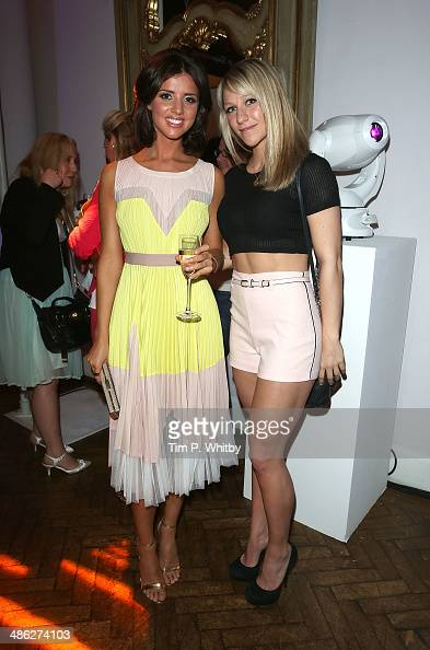 Lucy Mecklenburgh and Chloe Madeley attend the Superdrug 50th Birthday celebration at One Marylebone on April 23 2014 in London England